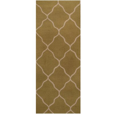 Hand-Tufted Green/Ivory Area Rug