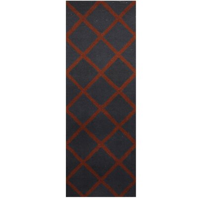 Hand-Tufted Navy/Brown Area Rug