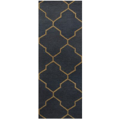 Hand-Tufted Navy/Gray Area Rug