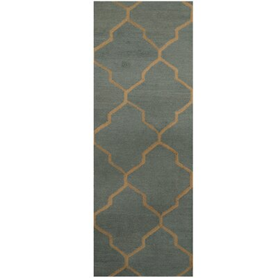 Hand-Tufted Light Blue/Beige Area Rug