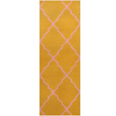 Hand-Tufted Gold/Pink Area Rug