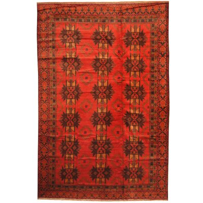 Balouchi Hand-Knotted Red/Brown Area Rug