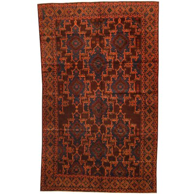 Balouchi Hand-Knotted Brown/Navy Area Rug