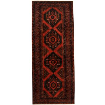 Balouchi Hand-Knotted Rust/Navy Area Rug