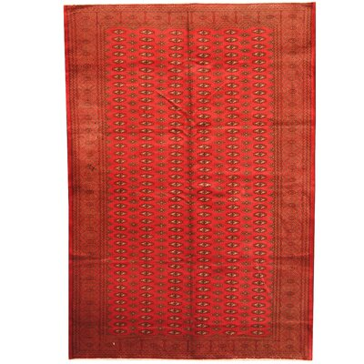 Tribal Turkoman Hand-Knotted Red/Ivory Area Rug