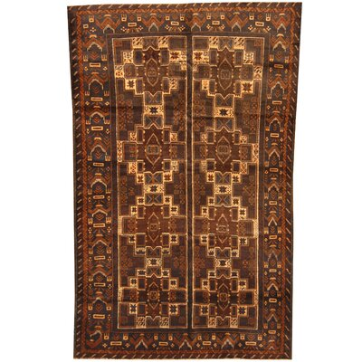 Balouchi Hand-Knotted Brown/Ivory Area Rug