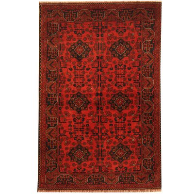 Khal Mohammadi Hand-Knotted Red/Navy Area Rug