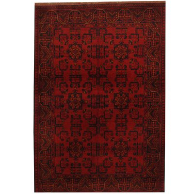 Khal Mohammadi Hand-Knotted Red/Black Area Rug