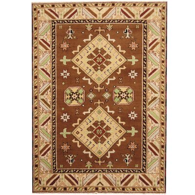 Kazak Hand-Knotted Brown/Ivory Area Rug