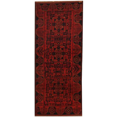 Khal Mohammadi Hand-knotted Red Wool Area Rug