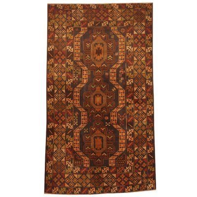 Barlowe Hand-Knotted Red/Beige Area Rug