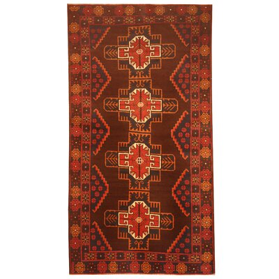 Barlowe Hand-Knotted Brown/Red Area Rug