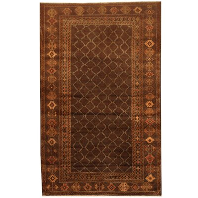 Balouchi Hand-Knotted Beige/Brown Area Rug