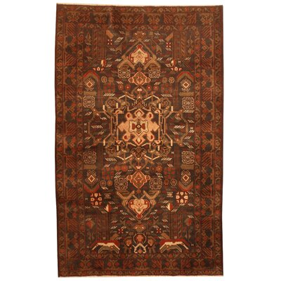 Balouchi Hand-Knotted Navy/Beige Area Rug