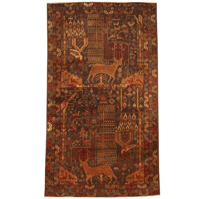 Balouchi Hand-Knotted Navy/Brown Area Rug