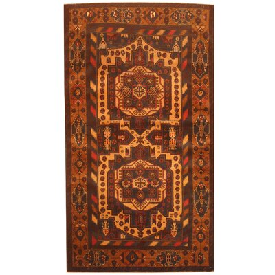Barlowe Hand-Knotted Navy/Tan Area Rug
