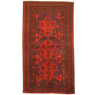 Barlowe Hand-Knotted Red/Blue Area Rug