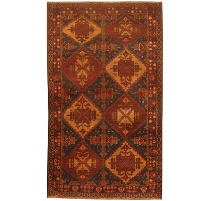 Barlowe Hand-Knotted Navy/Red Area Rug