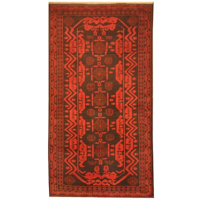 Barlowe Hand-Knotted Black/Red Area Rug