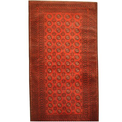 Balouchi Hand-Knotted Red/Ivory Area Rug