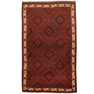 Balouchi Hand-Knotted Red/Blue Area Rug