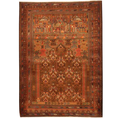 Balouchi Hand-Knotted Tan/Rust Area Rug