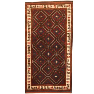 Barlowe Hand-Knotted Red/Ivory Area Rug