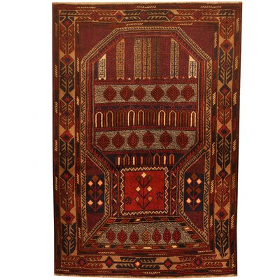 Balouchi Hand-Knotted Navy/Rust Area Rug