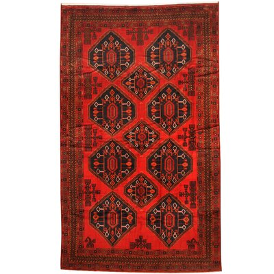 Balouchi Hand-knotted Red Area Rug Rug Size: 710 x 132