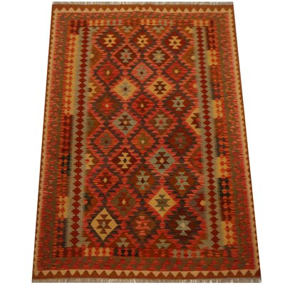Kilim Hand-Woven Red Area Rug
