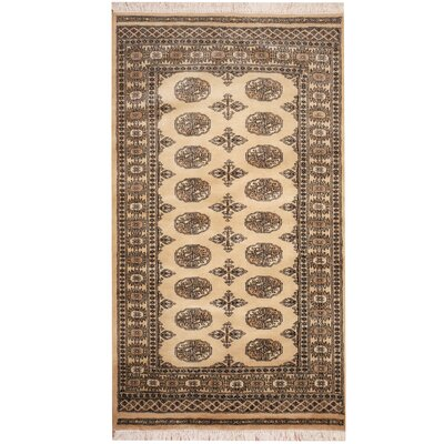 Hand-Knotted Beige/Ivory Area Rug