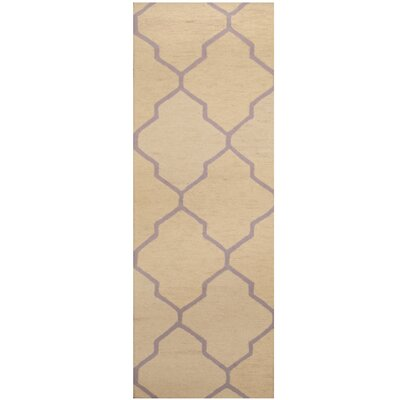Hand-Tufted Ivory/Light Purple Area Rug