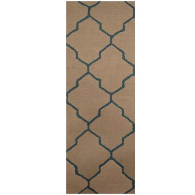 Hand-Tufted Light Gray/Blue Area Rug
