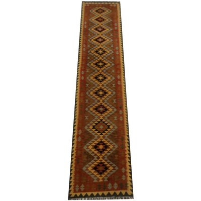 Kilim Hand-Woven Rust Area Rug