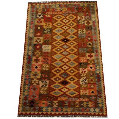 Kilim Hand-Woven Gold/Blue Area Rug