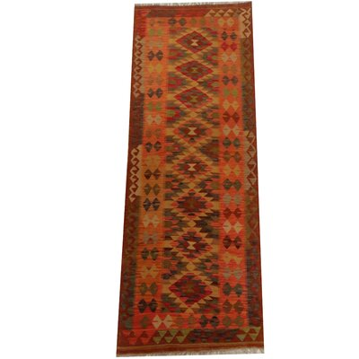 Kilim Hand-Woven Gold/Rust Area Rug