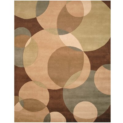 Hand-Tufted Beige/Brown Area Rug Rug Size: 5 x 8