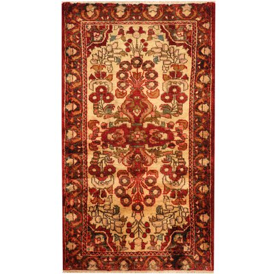 Hamadan Hand-Knotted Ivory/Brown Area Rug