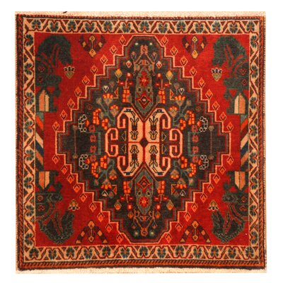 Shiraz Hand-Knotted Red/Ivory Area Rug