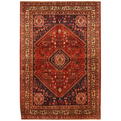 Josheghan Hand-Knotted Navy/Ivory Area Rug