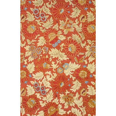 Rust/Cream Area Rug Rug Size: 66 x 10