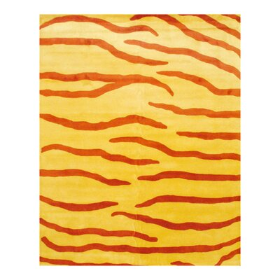 Yellow Area Rug Rug Size: Rectangle 8 x 10