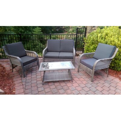 Nautilus 4 Piece Deep Seating Group with Cushion