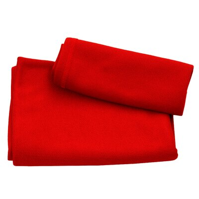Ultra Fast Dry Beach Towel Color: Red