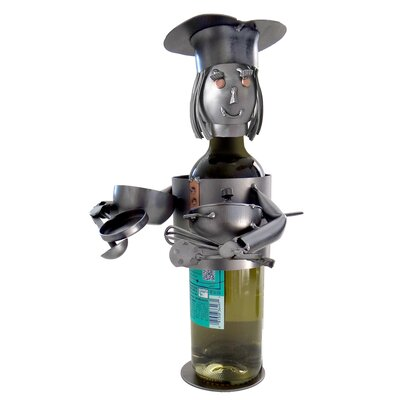 Chef  Female 1 Bottle Tabletop Wine Rack