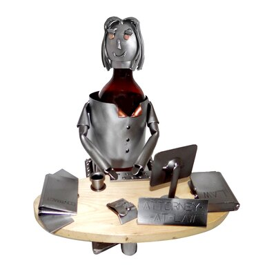 Attorney 1 Bottle Tabletop Wine Rack