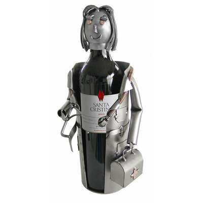 Female Doctor Tabletop Wine Bottle Rack