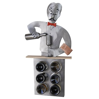 Bartender 6 Bottle Tabletop Wine Rack