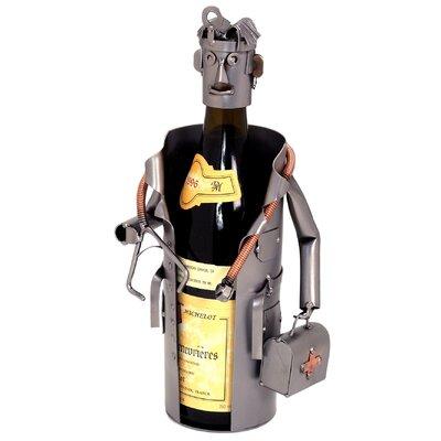 Male Doctor 1 Bottle Tabletop Wine Rack