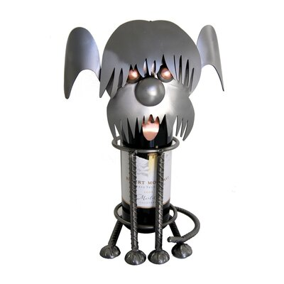 Shaggy Dog Caddy 1 Bottle Tabletop Wine Rack